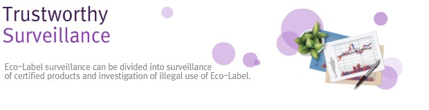 Trustworthy surveillance, Eco-Label surveillance can be divided into surveillance of certified products and investigation of illegal use of Eco-Label.